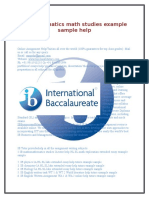 Ib Mthematics Math Studies Help