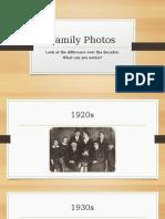 family photos decades