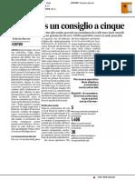 Per l'Erdis un consiglio a cinque - Il Corriere Adriatico del 3 maggio 2017