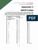 Appendix J ASCII Codes