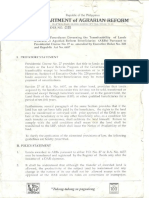 1995 AO 8 Rules and Procedures Governing the Transferability of Lands Awarded to ARBs Pursuant to Presidential Decree No. 27 ..