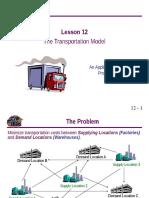 Transportation Model LP.ppt