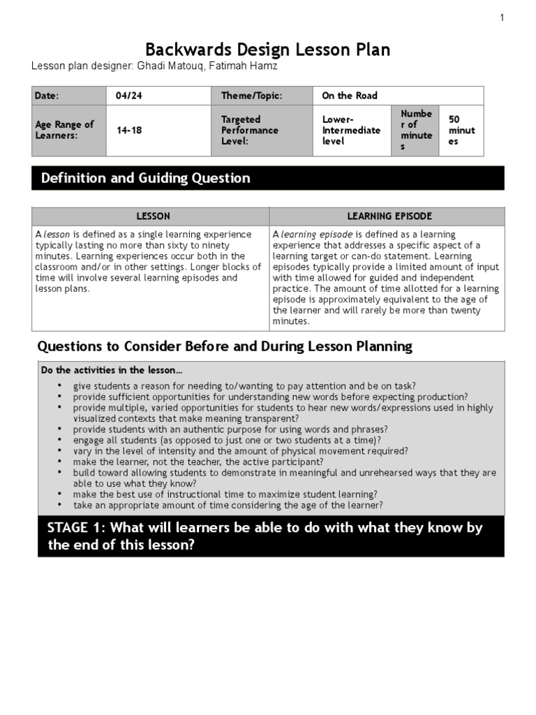 technology supported f2f | Lesson Plan | Vocabulary