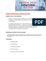 Printable Medical Device 30-60-90 Day Plan Template PDF Format