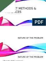 Budget Methods & Practices Presentation