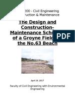 Groyne Field Design for No. 63 Beach