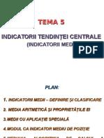 Tema 5 Indicatorii Medii