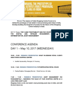 Agenda-India Shopping Centre Forum