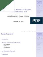 Alternative Approach to Maurer's Universal Test