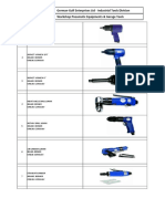 Workshop Pneumatic Equipments & Garage Tools