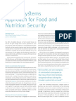 Food Systems Approaches