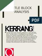 Title Block Analysis