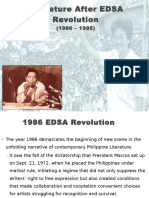 Literature After EDSA Revolution Report