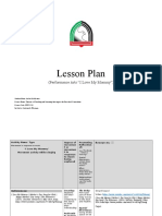 performing arts lesson plan