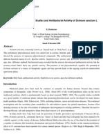 Antibacterial Activity of Em Ocimum Sanctum Em