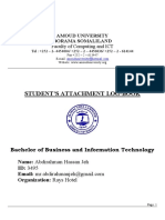 BBA Student Attachment Logbook