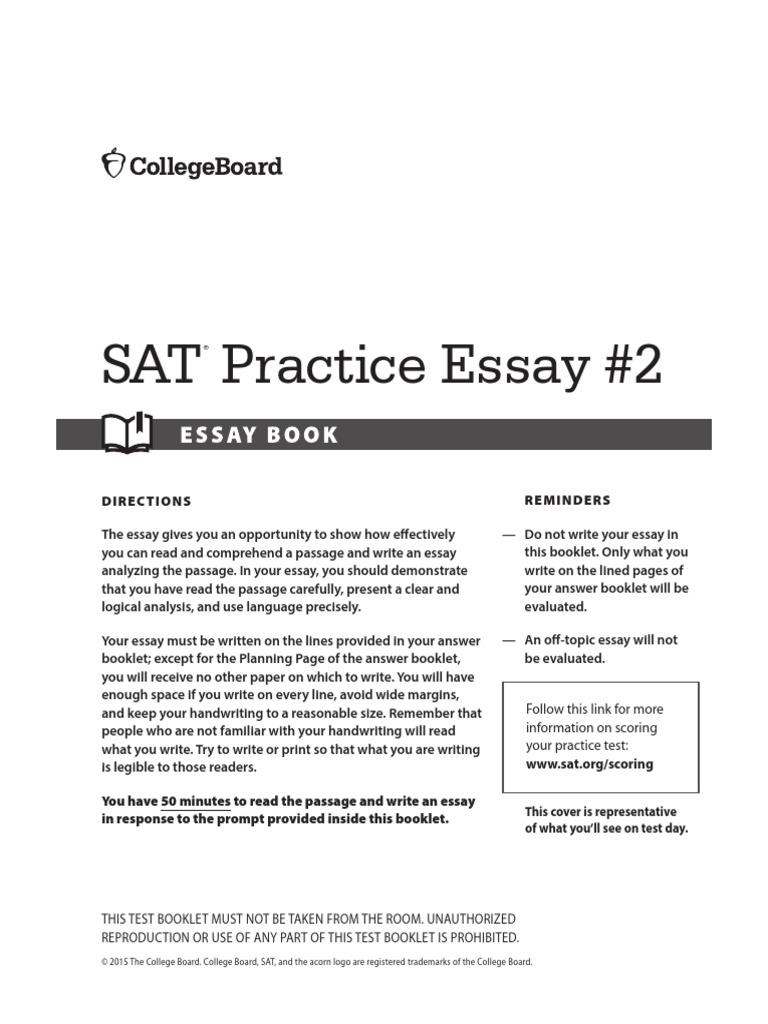 PrepScholar-sat-practice-test-2-essay pdf | Sat | Essays