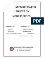 Businese Research Project on Mobile Shops