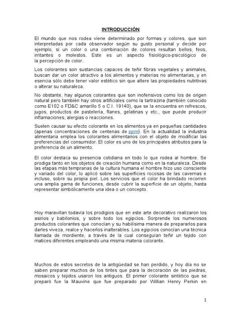monografia - BioAgro - Colorantes