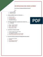 Preguntas y Tríptico - Patologiás Del Plexo Lumbar