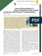 Photocatalysis Versus Photosynthesis