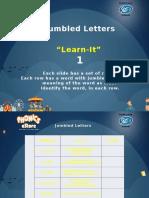 Jumbled Letters 1
