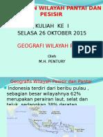 1. Pengertian Dan Batasan Wilayah Pesisir