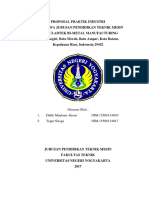 Proposal Praktik Industri Di PT. Cladtek Bi-Metal Manufacturing