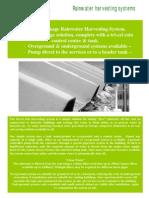 Rainwater Harvesting System Manual - Ireland