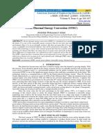 Ocean Thermal Energy Conversion (OTEC)