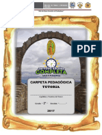 CARPETA PEDAGÓGICA TUTORIA