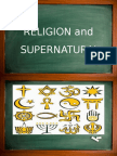 Anthropological Foundation-religion and Supernatural