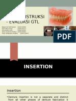 Insersi Instruksi Evaluasi GTL Presentasi Drg.helmi