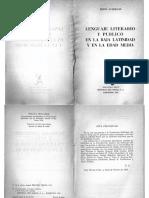 AUERBACH, Erich - Lenguaje literario y público en la Baja Latinidad y en la Edad Media - Cap Propósito y método.pdf