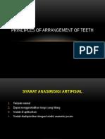 Principles of Arrangement of Teeth