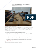 Strategi Dan Persiapan Calon Independen Menang Pilkada – Aswandi Blog