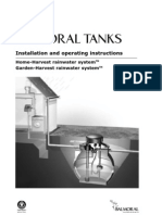Installation and operating instructions of Balmoral Rainwater Harvesting tanks