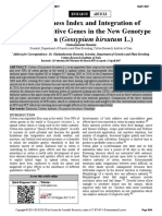 New Earliness Index and Integration of Earliness Additive Genes in the New Genotype of Cotton (Gossypium hirsutum L.)