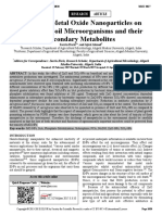 Impact of Metal Oxide Nanoparticles on   Beneficial Soil Microorganisms and their   Secondary Metabolites