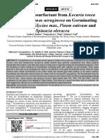 Impact Of Biosurfactant From Kocuria rosea And Pseudomonas aeruginosa On Glycine max, Pisum sativum And Spinacia oleracea.pdf