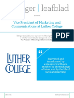 Executive Position Profile - Luther College - VP of Marketing and Communications