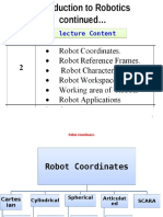 Week 2 Robotics Lecture 2  Intro to Robotics