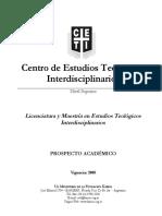 CETI Prospecto Vigente Nivel Superior 28-5-2008