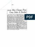 Kern Man Charges AMORC is Racket (1933)