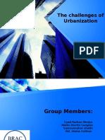 Presentation on Challenges of Urbanization Bangladesh