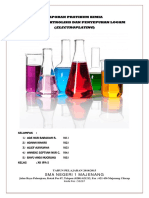 Laporan Pratikum Kimia Korosi, Elektrolisis Dan Elektroplating