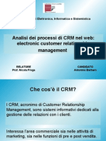 analisi dei processi di CRM nel web:electronic customer relationship management