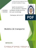 Modelos de Transporte y asignacion