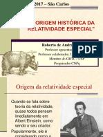A Origem Historica Da Teoria Da Relativi