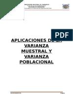 Aplicaciones de La Varianza Muestral y Varianza Poblacional